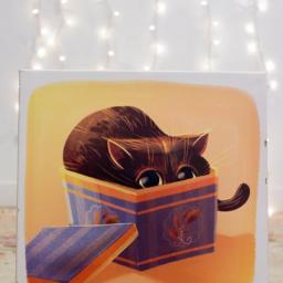Illustration numérique sur toile, format 24x24